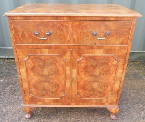 Burr Walnut Side Cupboard
